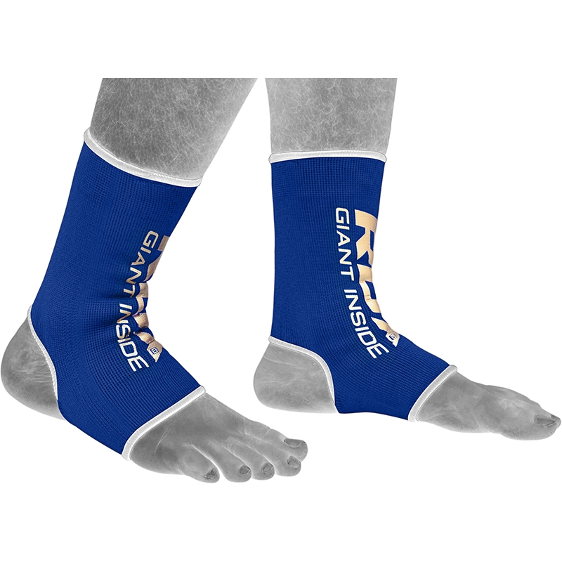 RDX AU Blue Large Ankle Support Sprain Protection Compression Sleeve for Sports like MMA, Workout, Cycling, Jogging, Running, Hiking, Football