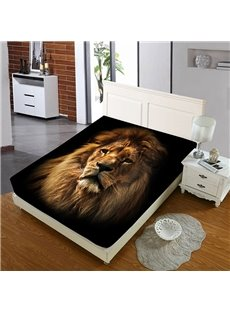 Firm And Persistent Lions Head Reactive Printing 1-Piece Polyester Bed Cover / Mattress Cover