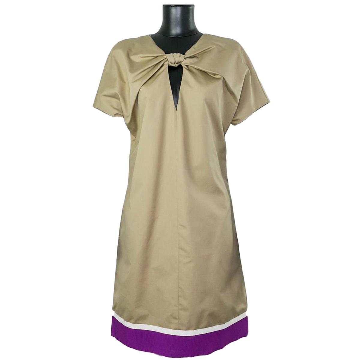 Giambattista Valli \N Kleid in  Beige Baumwolle