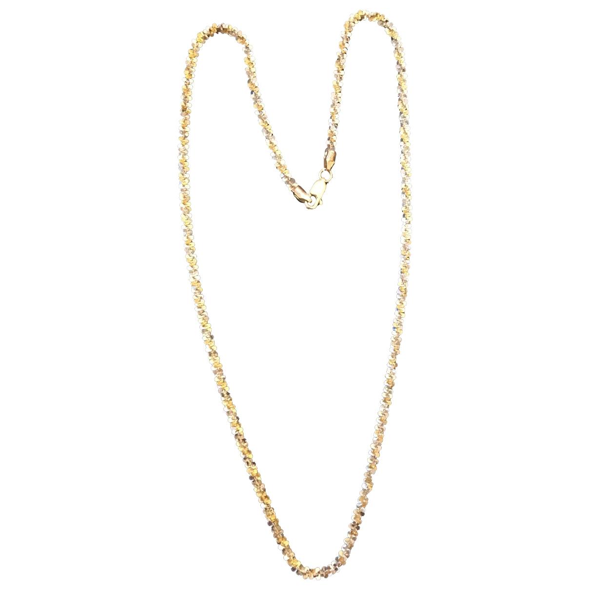 Non Signe / Unsigned Motifs Floraux Halskette in  Bunt Gelbgold