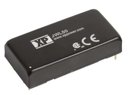 XP Power JWL50 50W Isolated DC-DC Converter Through Hole, Voltage in 9 → 36 V dc, Voltage out 24V dc