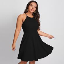 Slip Kleid mit Bogenkante