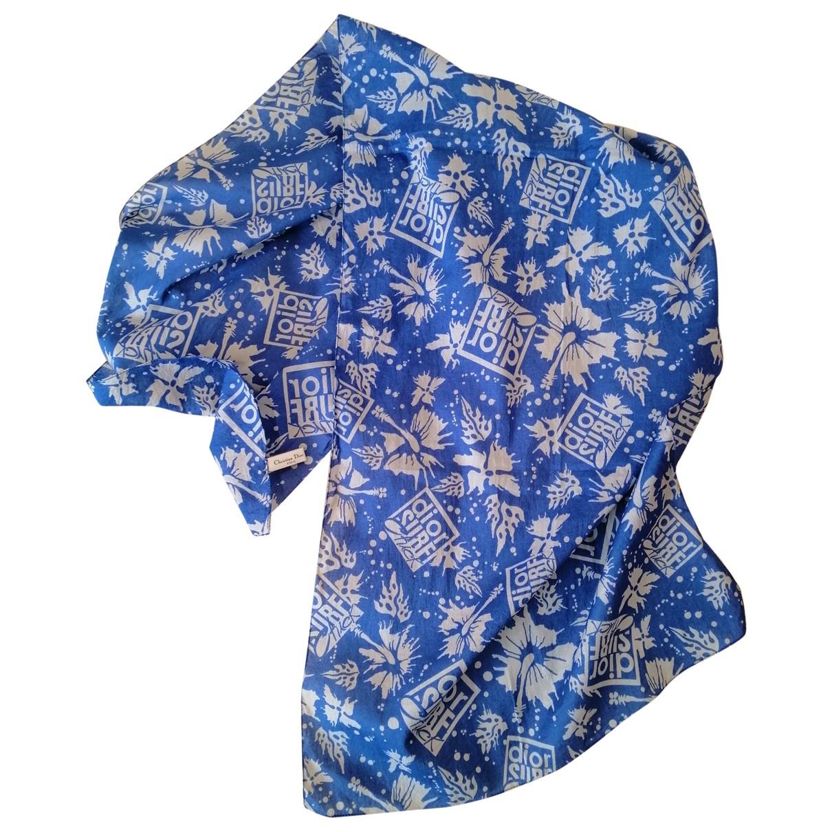 Dior \N Blue Cotton scarf for Women \N