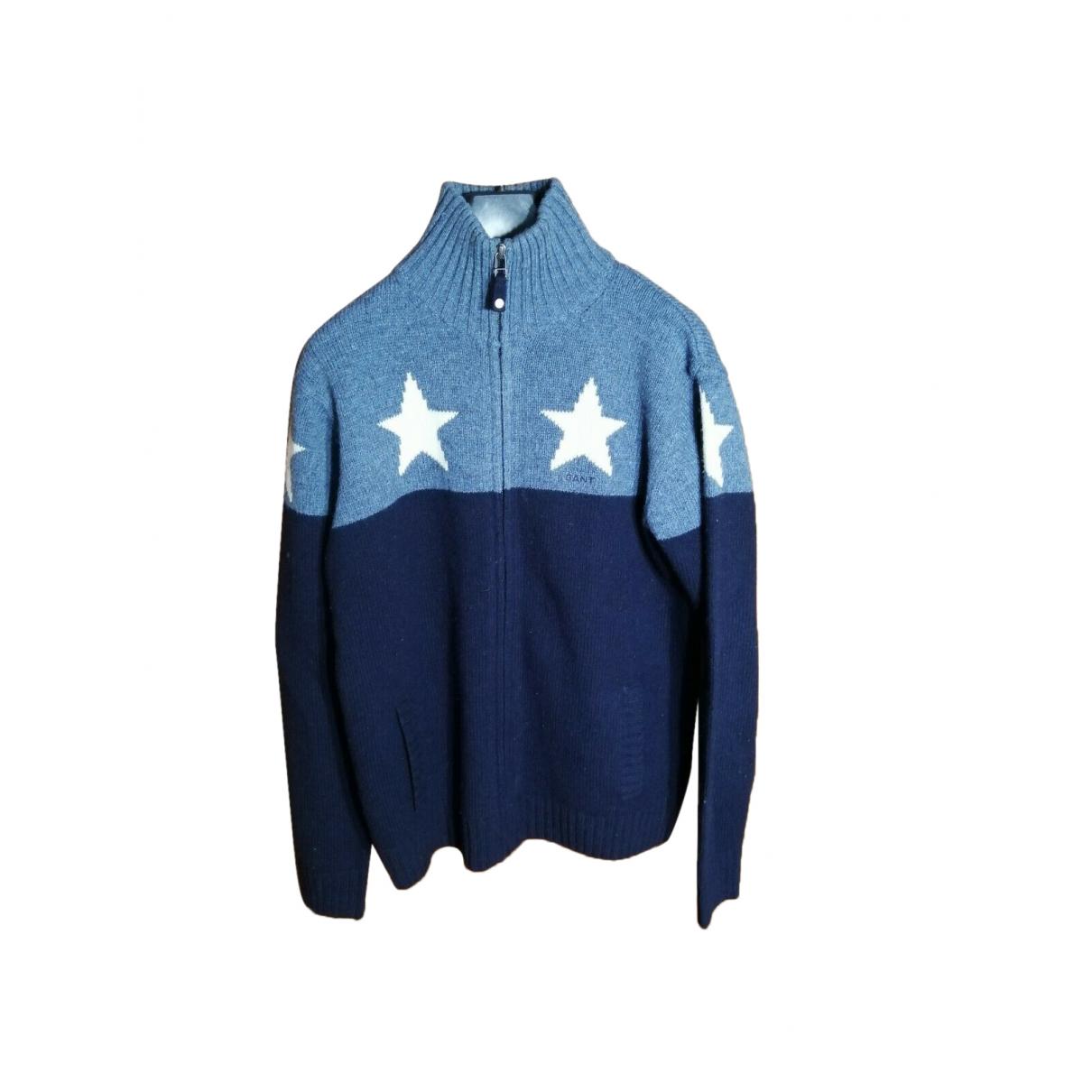 Gant - Pull   pour enfant en laine - bleu