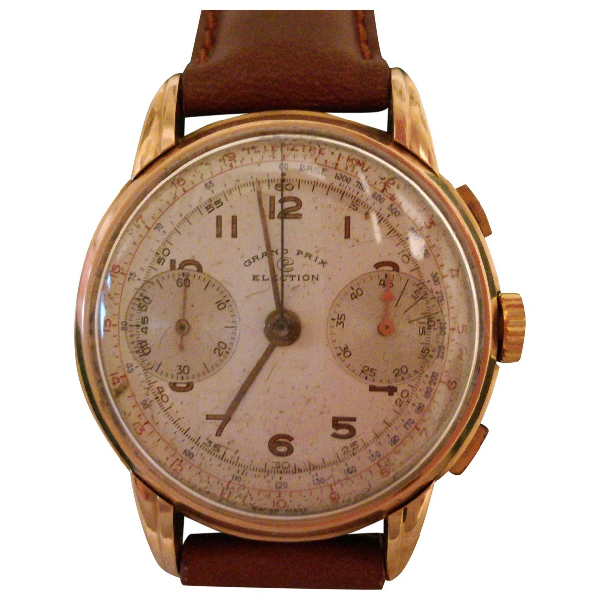 Non Signe / Unsigned \N Uhr in  Rosa Rosegold