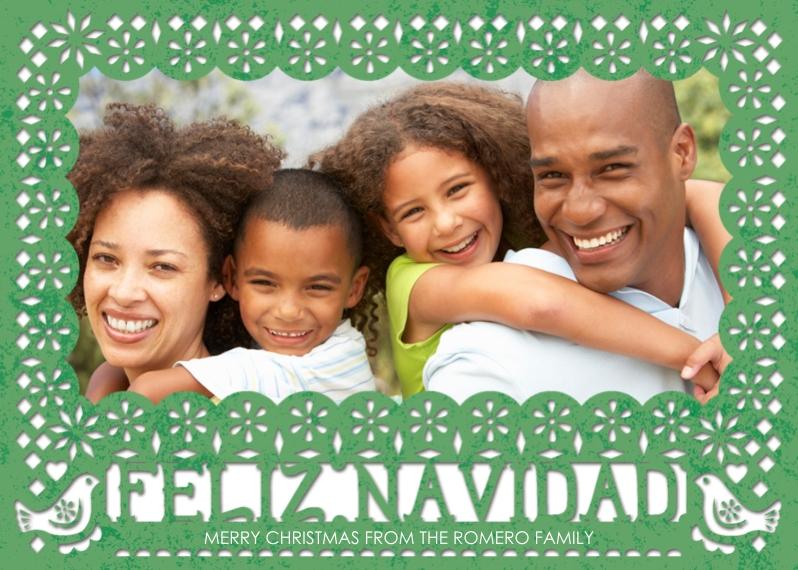 Tarjetas de Navidad Mail-for-Me Premium 5x7 Folded Card , Card & Stationery -Papel Picado