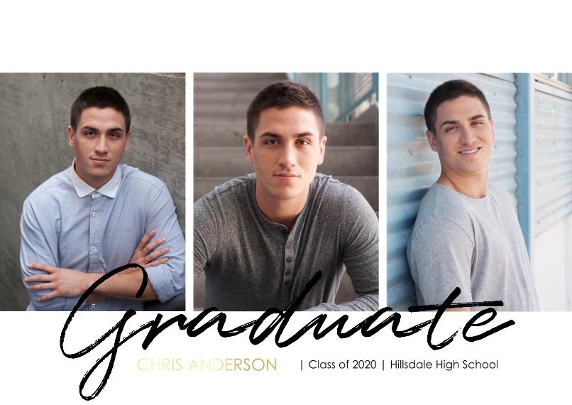Graduation Set of 20, Premium 5x7 Foil Card, Card & Stationery -Graduate Simple