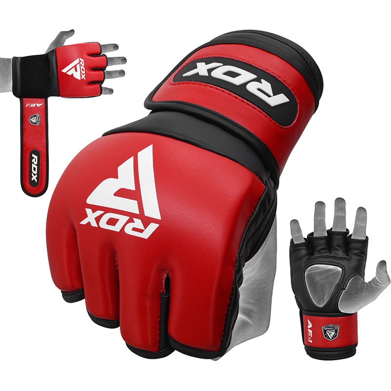 RDX RF1 Pro MMA Fight Competition Gloves 4oz Padded Extra Large Red/Black