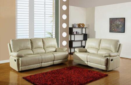 343900 76'' X 40'' X 41'' Modern Beige Leather Sofa and