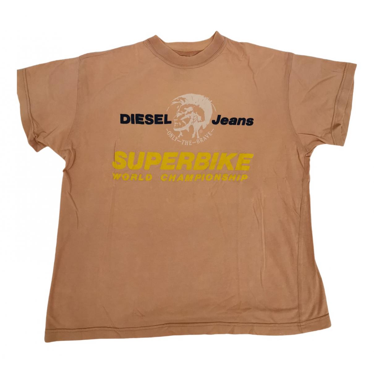 Diesel - Tee shirts   pour homme en coton - rose
