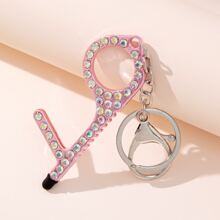 Rhinestone Decor Keychain