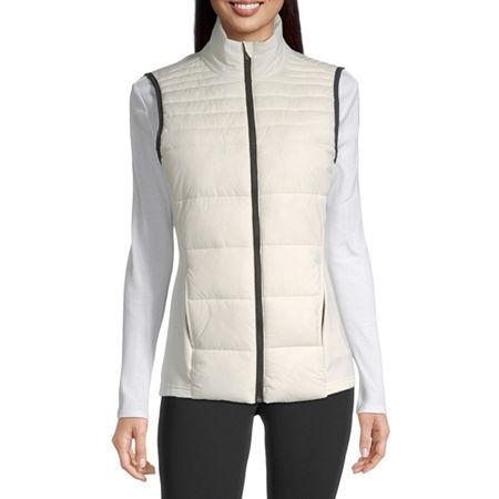 Xersion Women's Puffer Vest, Medium , White