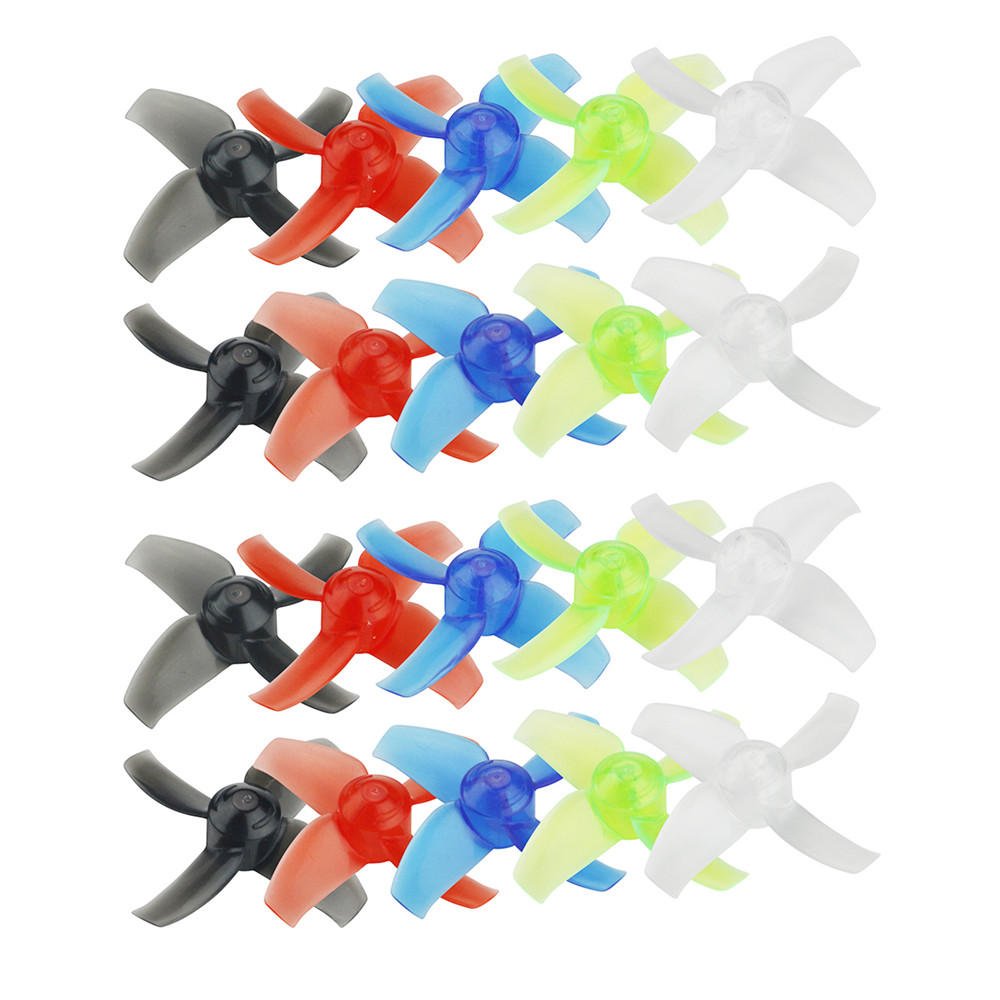 10 Pairs KINGKONG/LDARC 40mm 4-blade Transparent Propeller 1.5mm Hub for Beta75X RC Drone