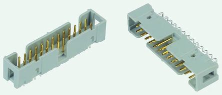 3M , 2500, 14 Way, 2 Row, Right Angle PCB Header
