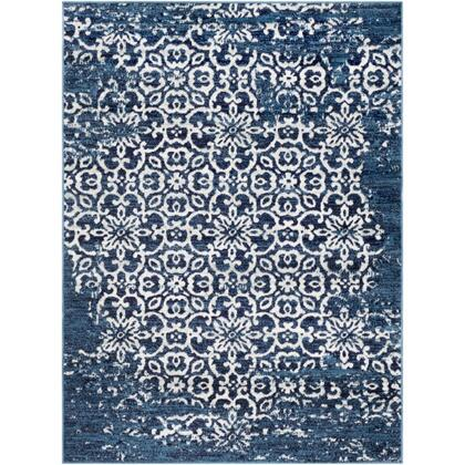 Monte Carlo MNC-2303 9' x 12' Rectangle Traditional Rug in Sky Blue  Navy  White  Light