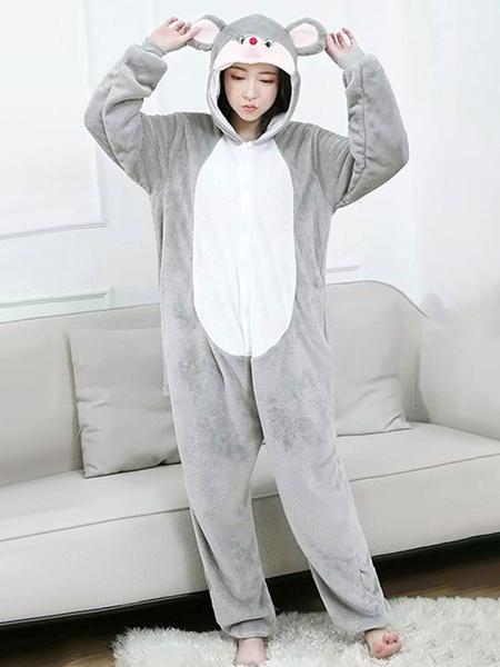 Milanoo Kigurumi Pajamas Mouse Onesie Adults Unisex Flannel Winter Sleepwear Costume Cosplay Halloween