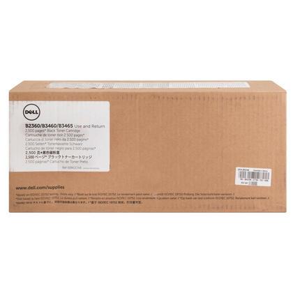 Dell 331-9803 7MC5J RGCN6 cartouche de toner programme de retour originale noire 2500 pages