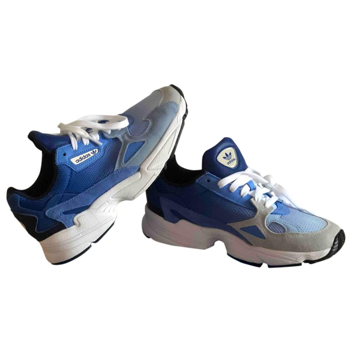 Adidas Falcon Blue Cloth Trainers for Women 38 EU