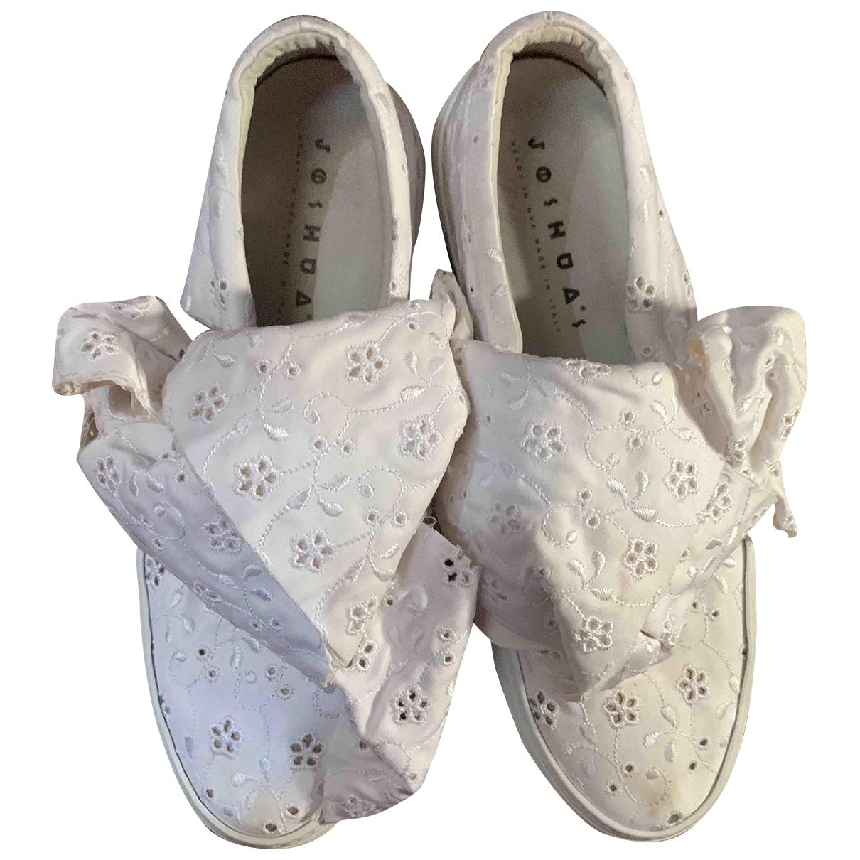 Joshua Sanders \N Sneakers in  Weiss Leinen