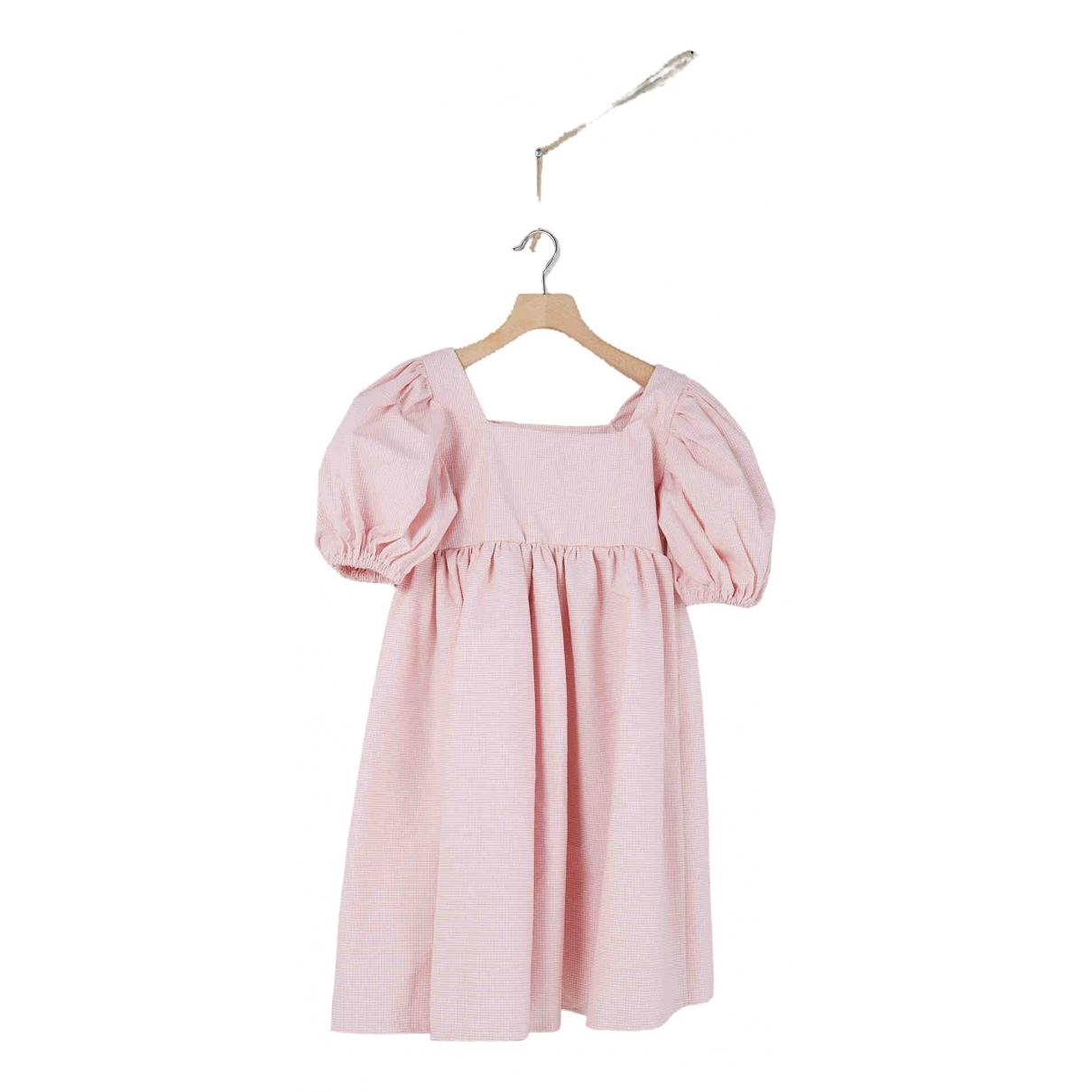Non Signé / Unsigned Manche ballon Pink Cotton dress for Women 42 IT