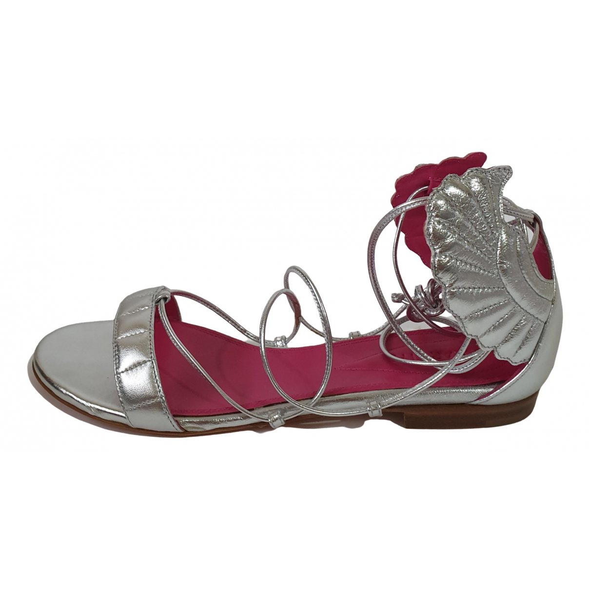 Oscar Tiye \N Silver Leather Sandals for Women 37.5 EU
