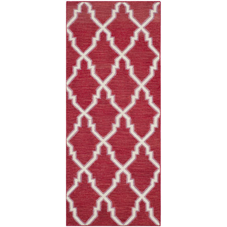 Safavieh Yolonda Hand Woven Flat Weave Area Rug, One Size , Red