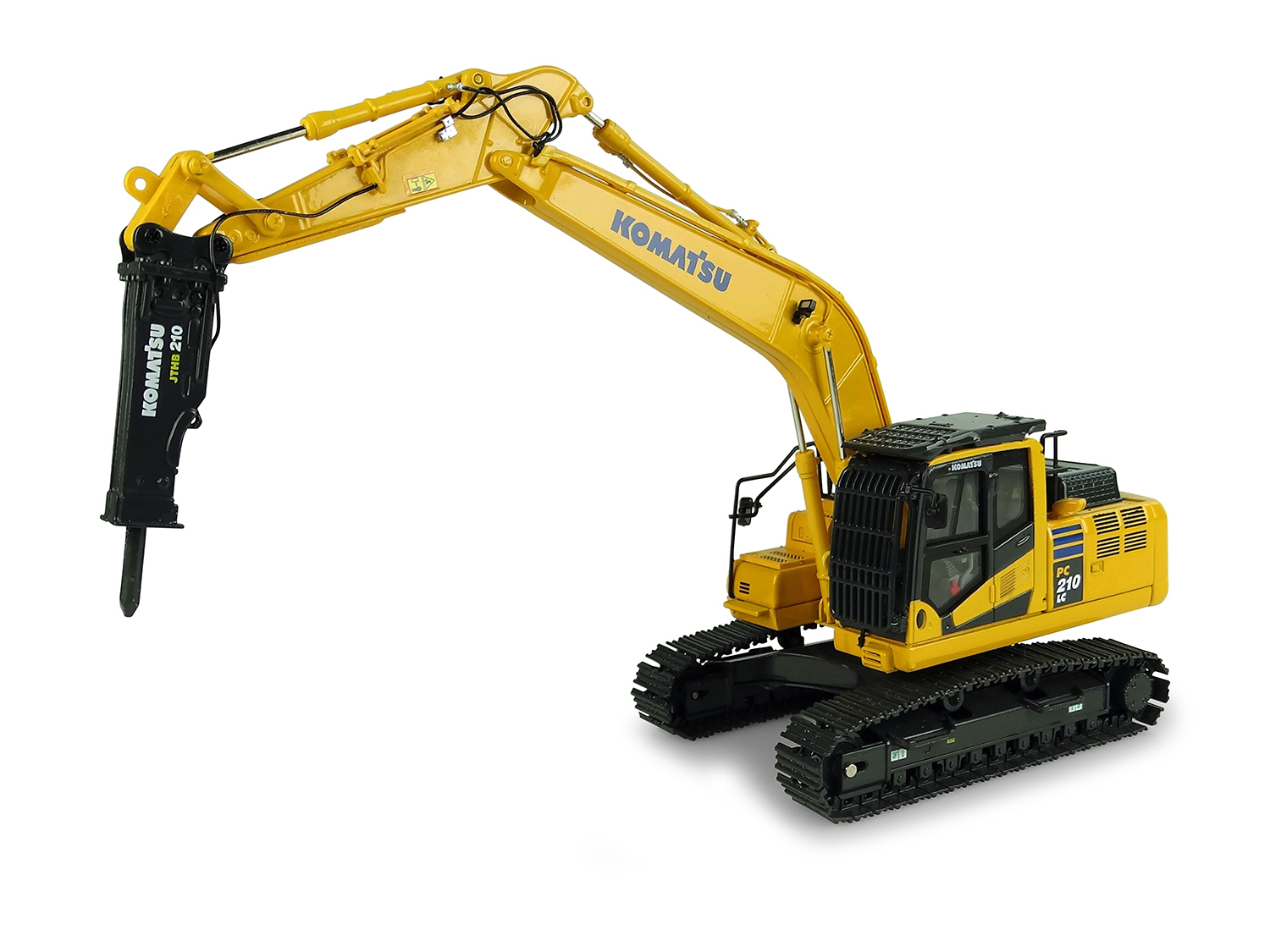 Komatsu PC210LC-11 Tracked Excavator with Hammer Drill 1/50 Diecast Model by Universal Hobbies