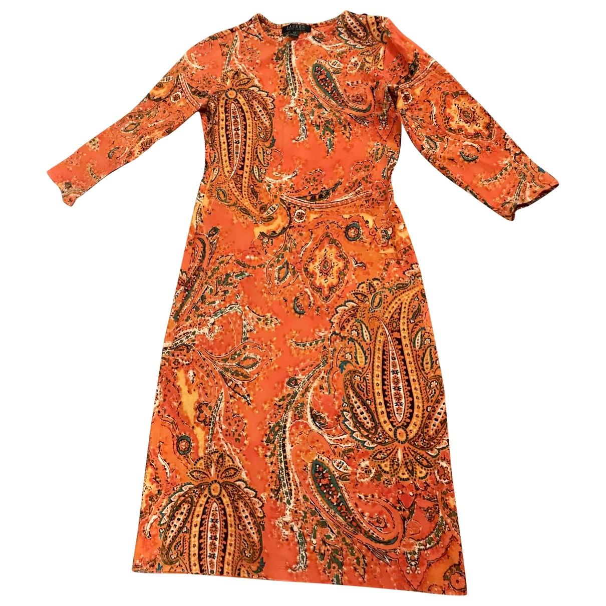 Lauren Ralph Lauren \N Kleid in  Orange Viskose