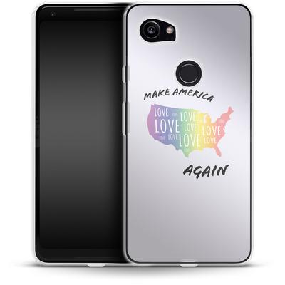Google Pixel 2 XL Silikon Handyhuelle - Make America Love Again von caseable Designs