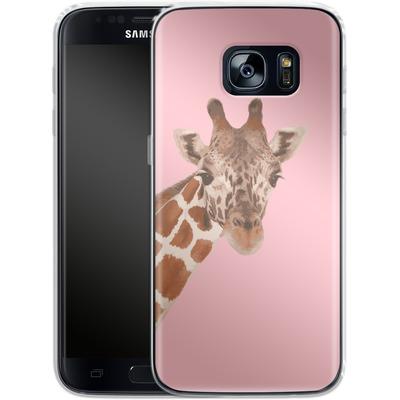 Samsung Galaxy S7 Silikon Handyhuelle - Giraffe Pride von Mukta Lata Barua