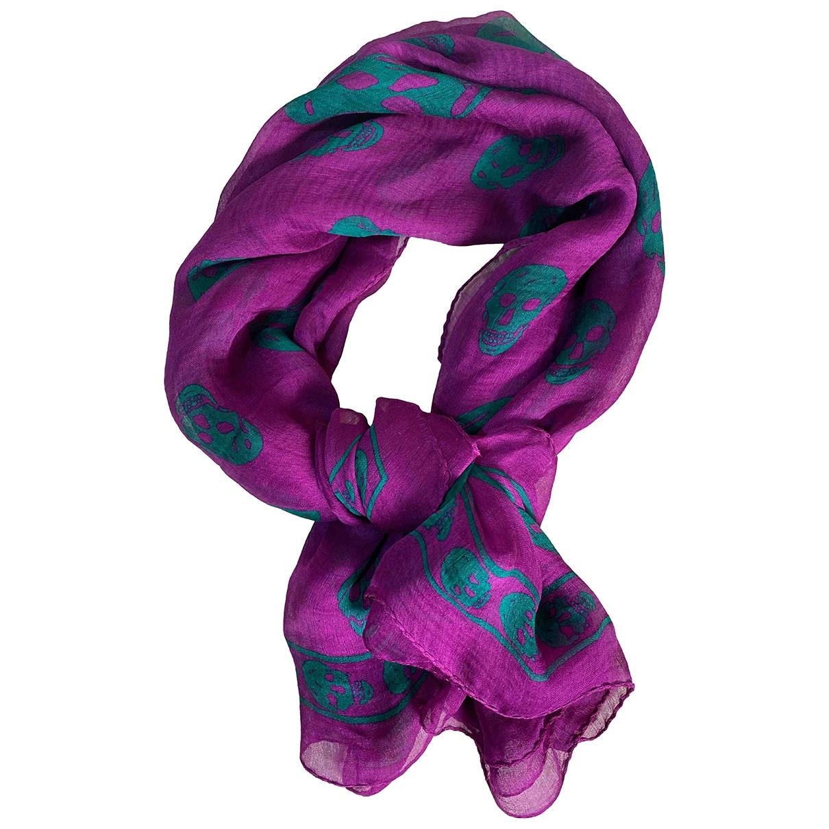 Alexander Mcqueen \N Purple Silk scarf for Women \N