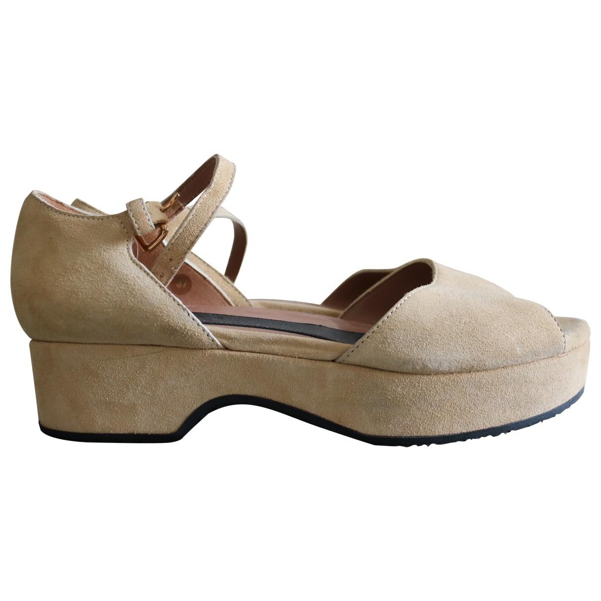 Marni \N Sandalen in  Beige Veloursleder