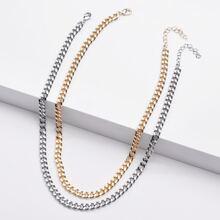 Verschiedenfarbig Halsketten