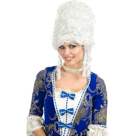 Marie Antoinette Adult Wig, One Size Fits Most , White