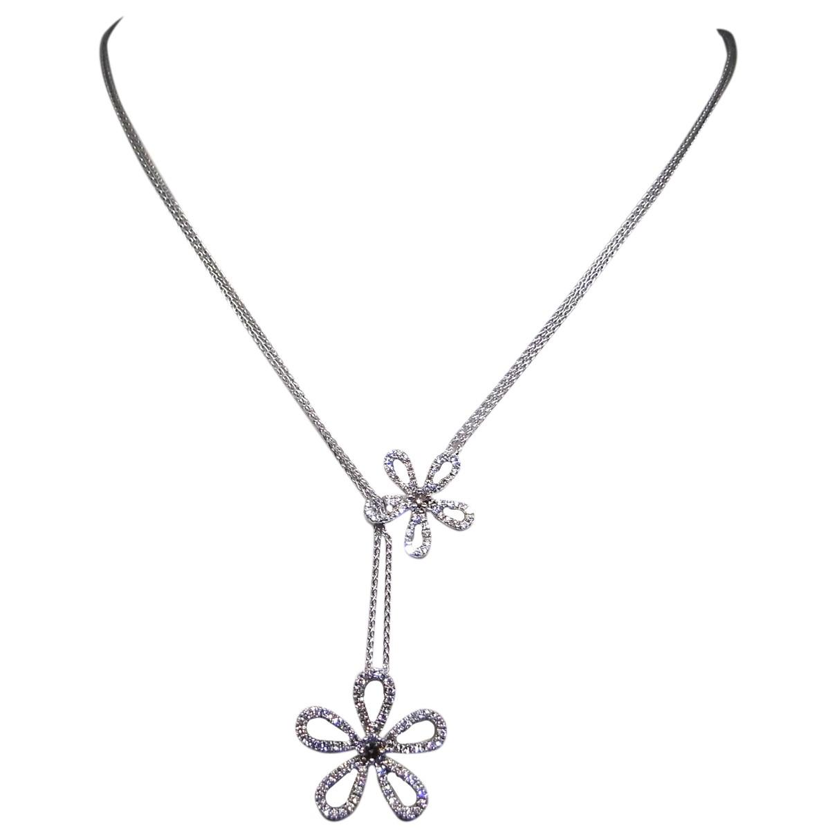 Collar Motifs Floraux de Oro blanco Non Signe / Unsigned