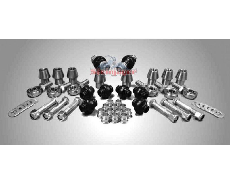 Steinjager J0000585 Rod Ends Set 1 inch -12 for 1.750 OD x .250 Ball ID 4HSS-28250-16-16-XX-ZZ 1 inch -12 x 1