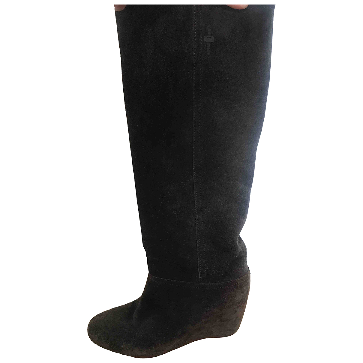 Carshoe \N Stiefel in  Grau Leder