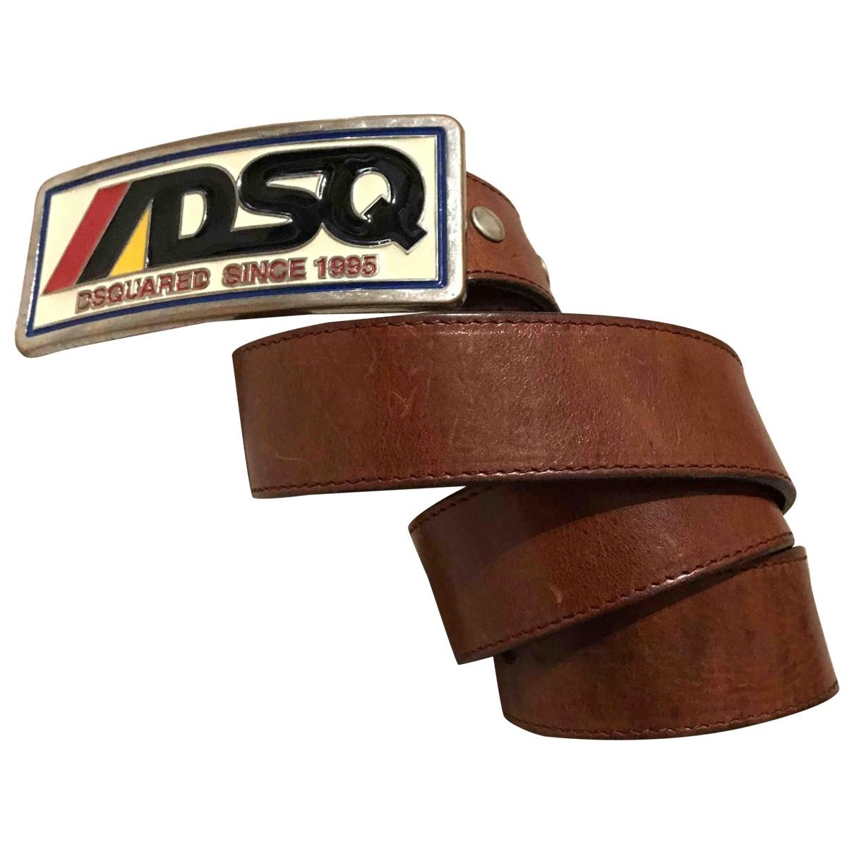 Dsquared2 \N Brown Leather belt for Men S international
