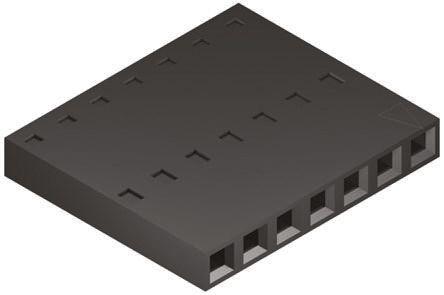 Molex , SL Female Connector Housing, 2.54mm Pitch, 7 Way, 1 Row (10)