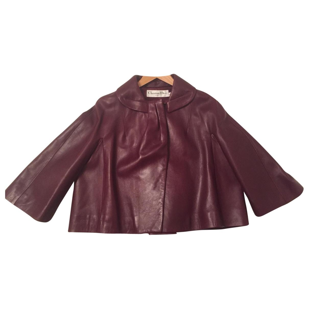 Dior - Veste   pour femme en cuir - violet