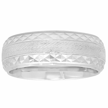 8MM Sterling Silver Wedding Band, 13 , No Color Family