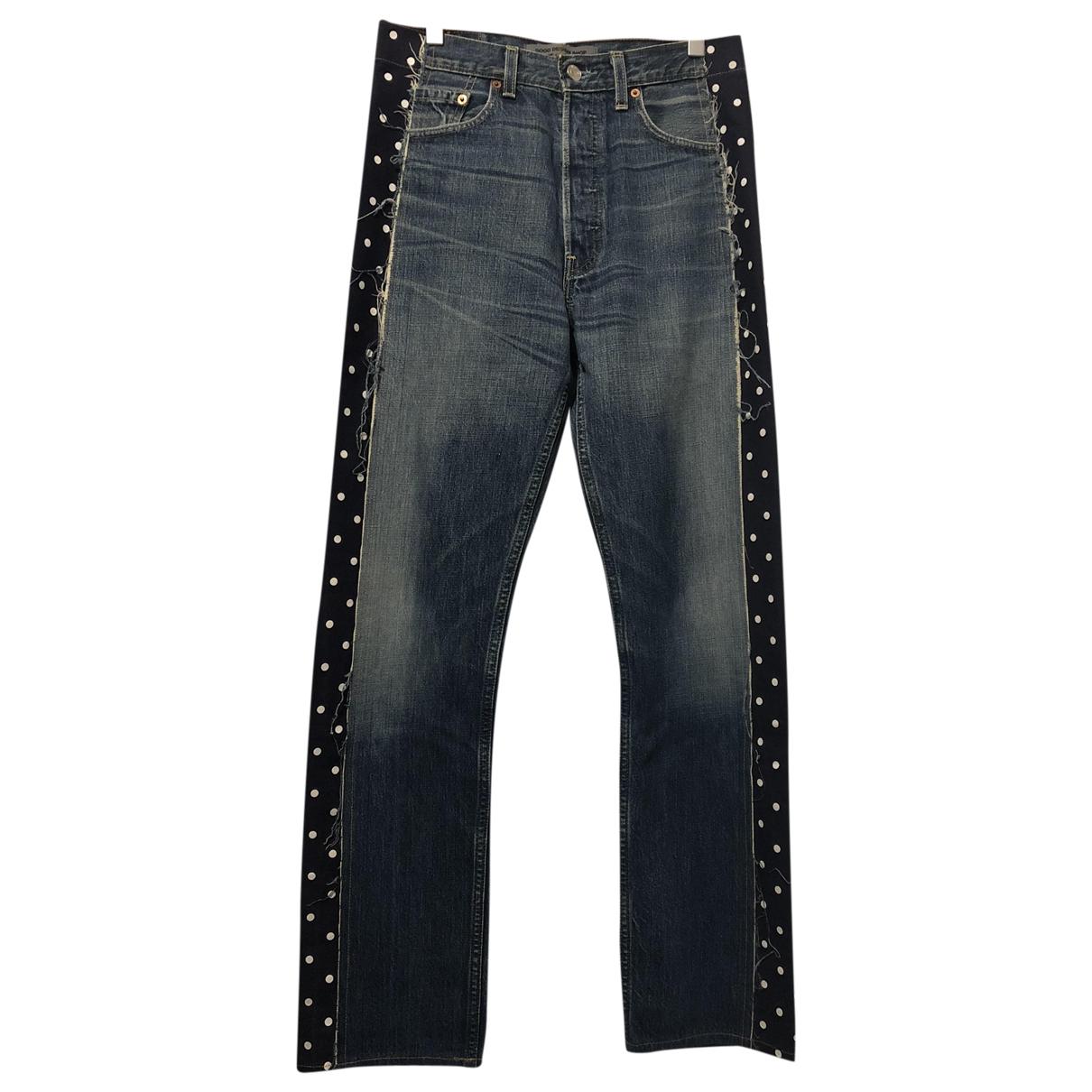 Comme Des Garcons \N Blue Cotton Jeans for Men 30 US