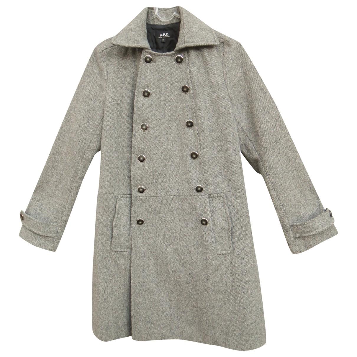 Apc \N Grey Wool coat for Women 36 FR