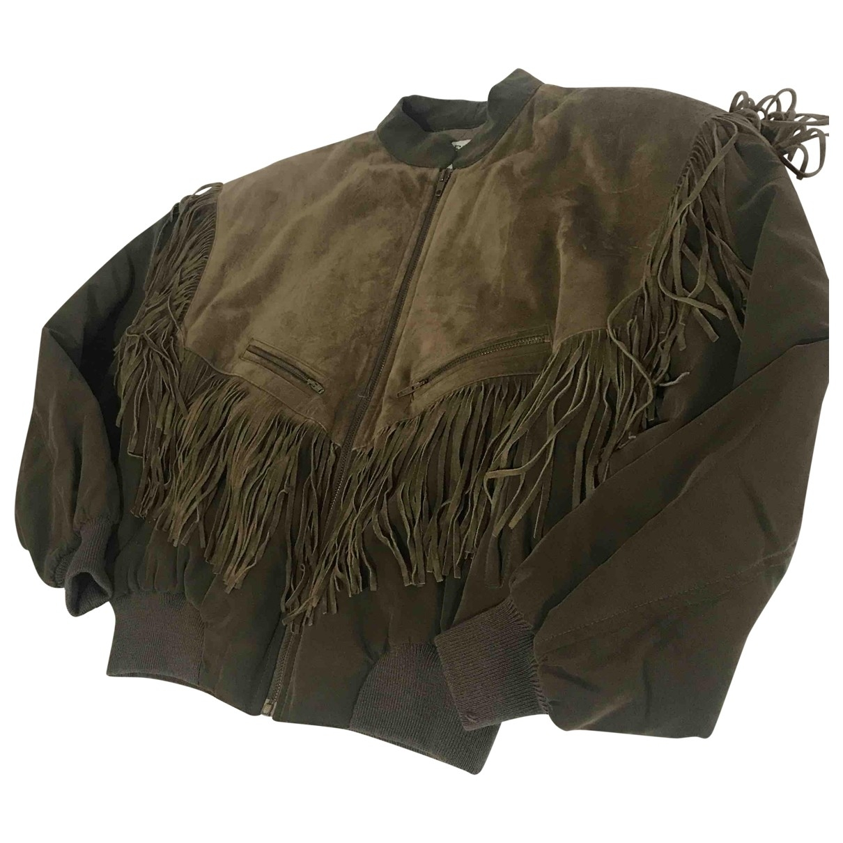 Iceberg \N Green Leather jacket for Women 40 IT