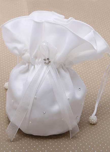 Milanoo Bolso de novia de blanco crudo de estilo elegante