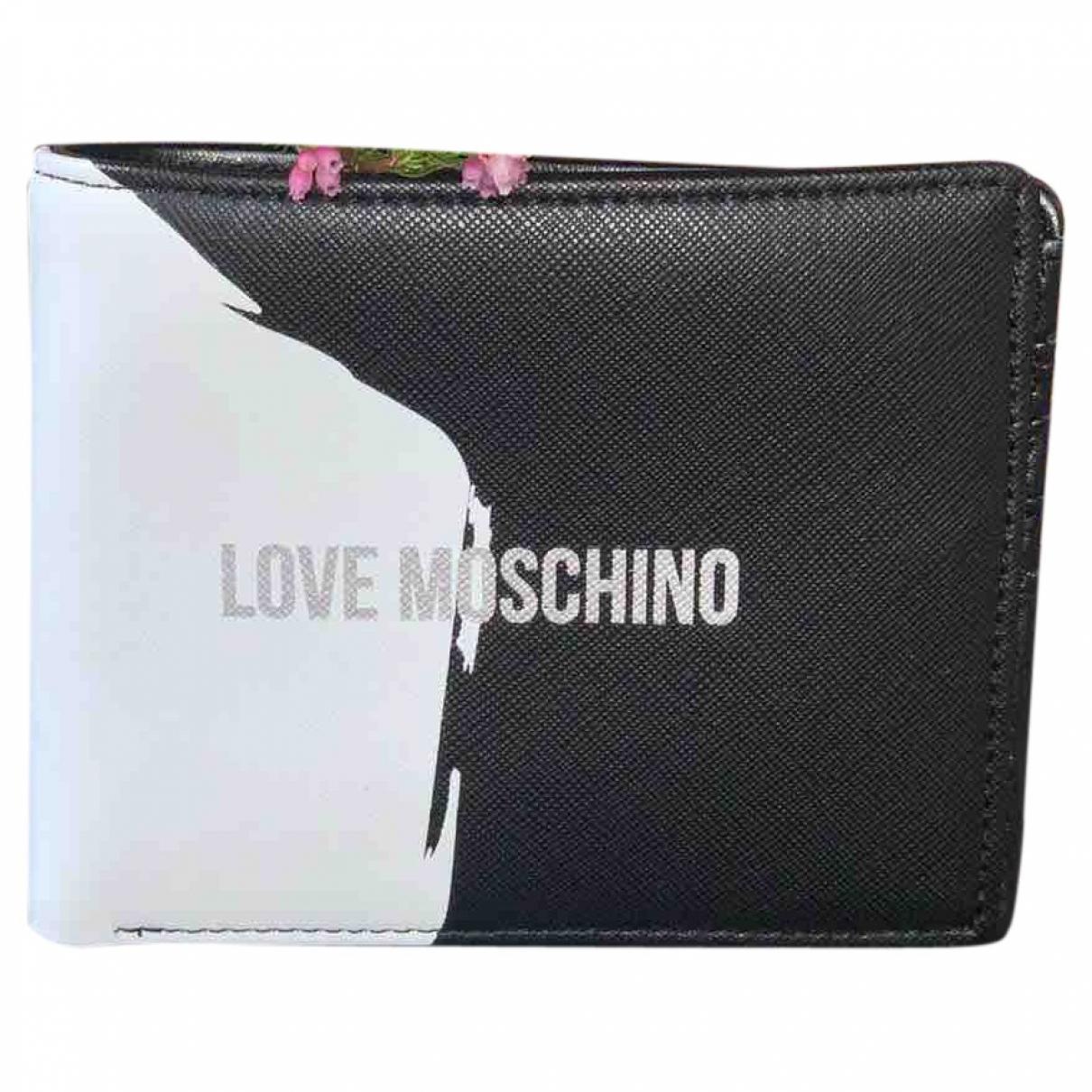 Moschino Love \N Kleinlederwaren in  Schwarz Leder