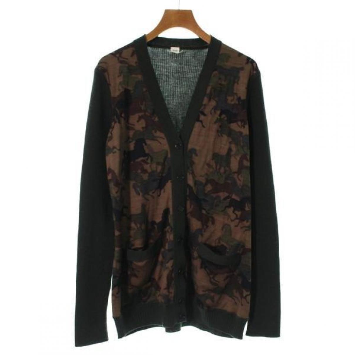 Hermes - Pull   pour femme en laine - multicolore