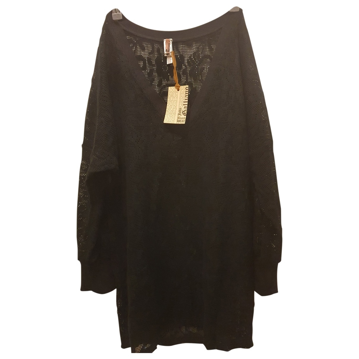 John Galliano \N Kleid in  Schwarz Baumwolle