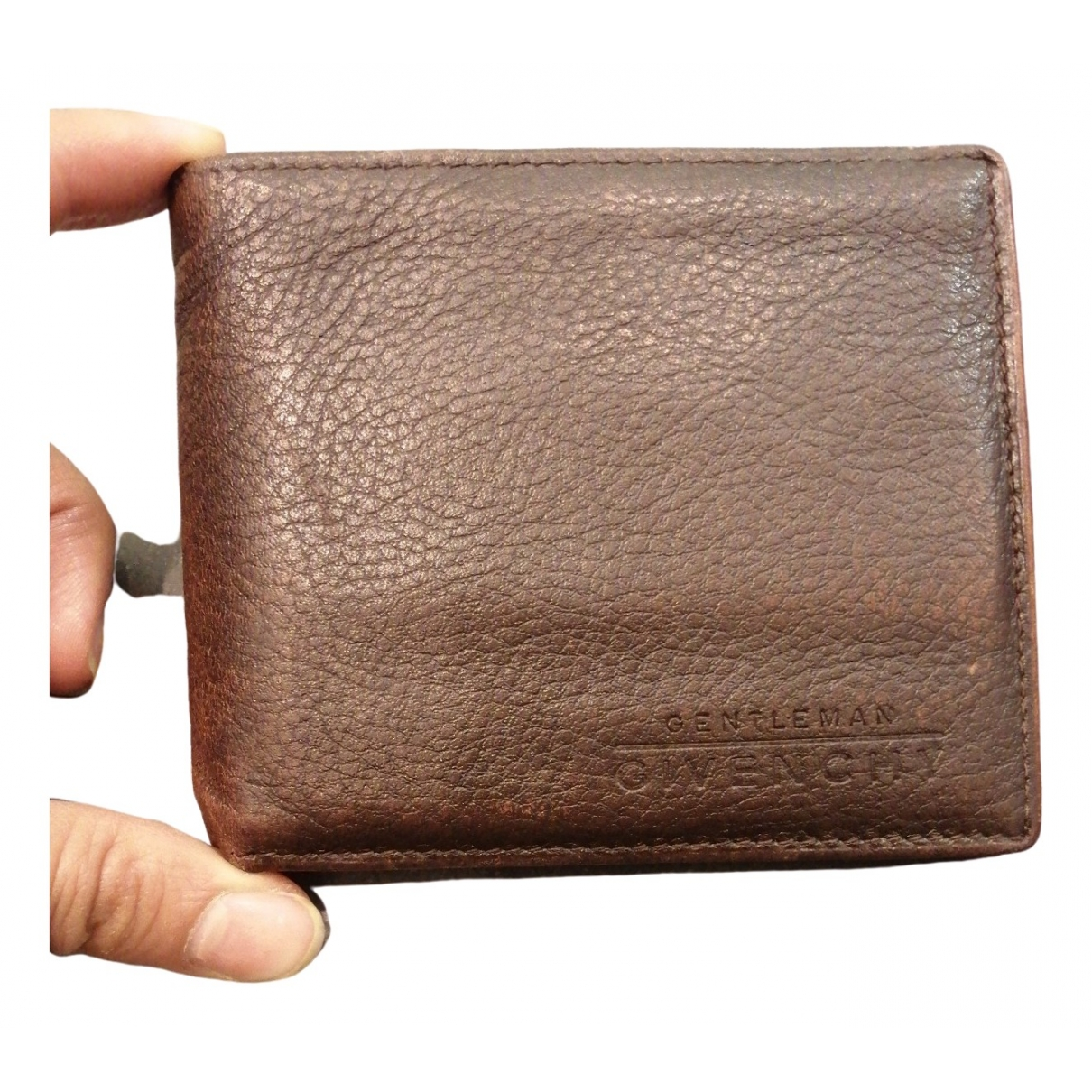 Givenchy \N Brown Leather Small bag, wallet & cases for Men \N