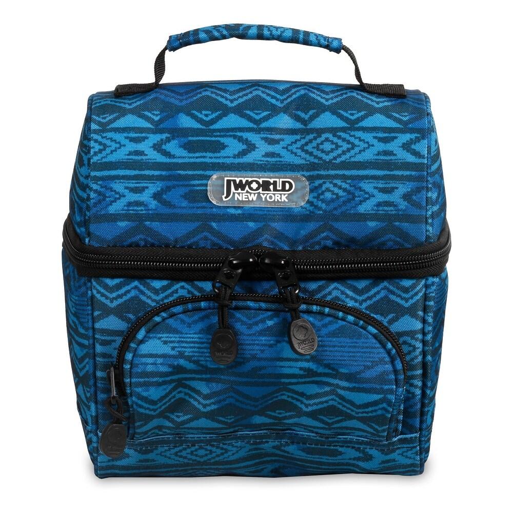 J World New York Corey Lunch Bag - Water Mark (Blue - Lightweight - Polyester - Convertible - Artisan)